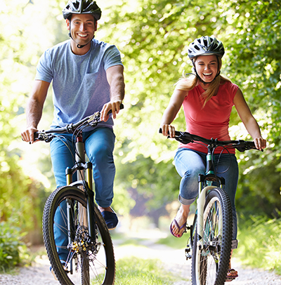 A bicycle helmet reduces the risk of serious head and brain injury by 85%
