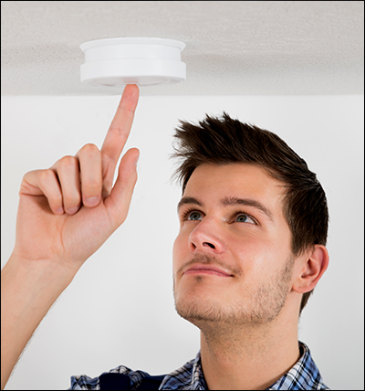 Test smoke detectors at least once a month